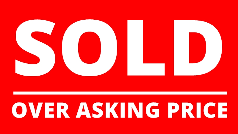 sold over asking price