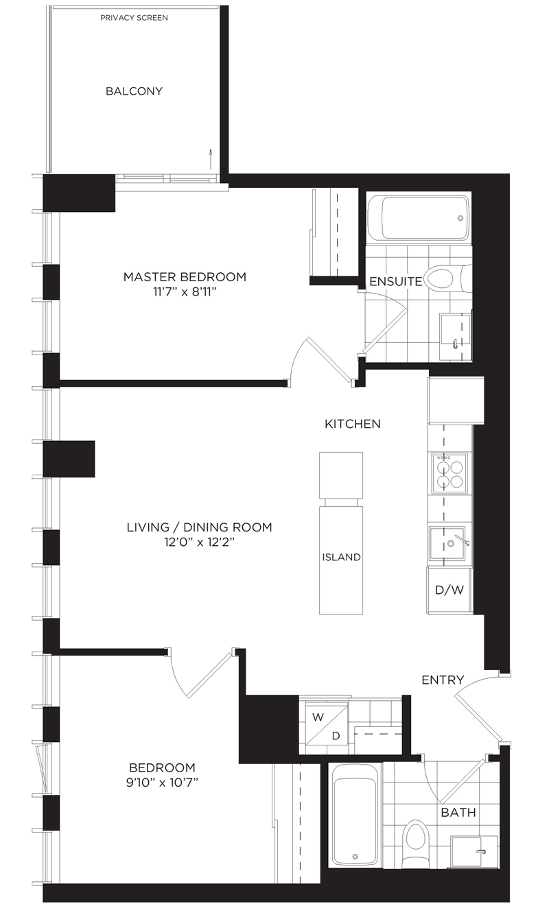 502 170 sumach st 2 bed rental one park place for 126 simcoe street floor plans