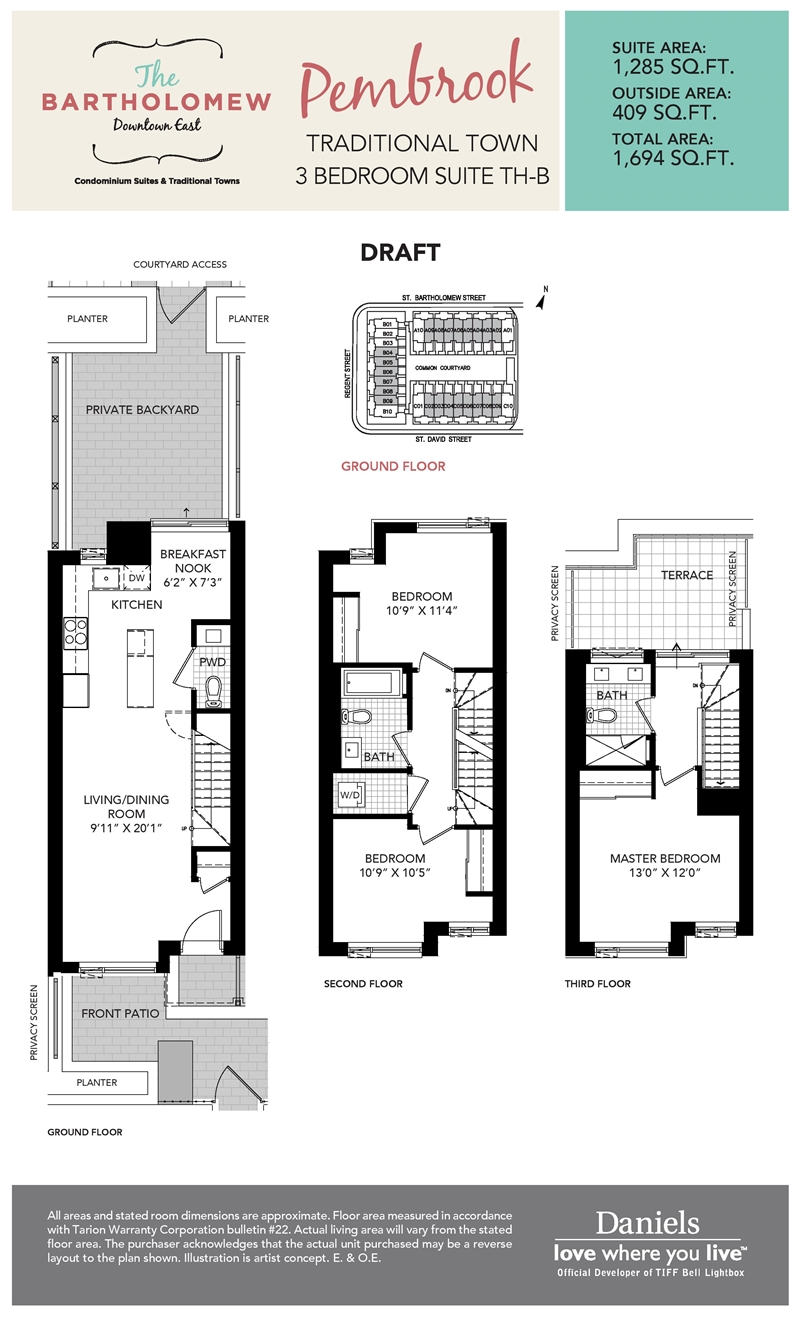 The bartholomew condos townhomes regent park life for Townhome layouts