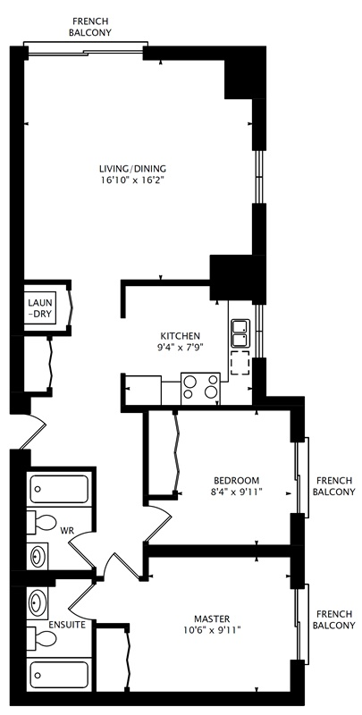 1466 313 Richmond St E 2 Bedroom Condo At The Richmond