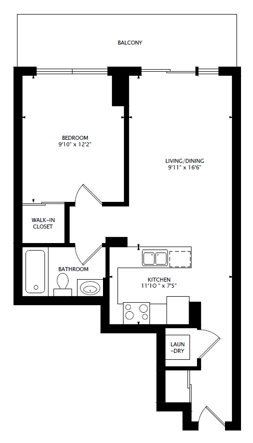 1707 761 bay st 1 bedroom college park 2 suite