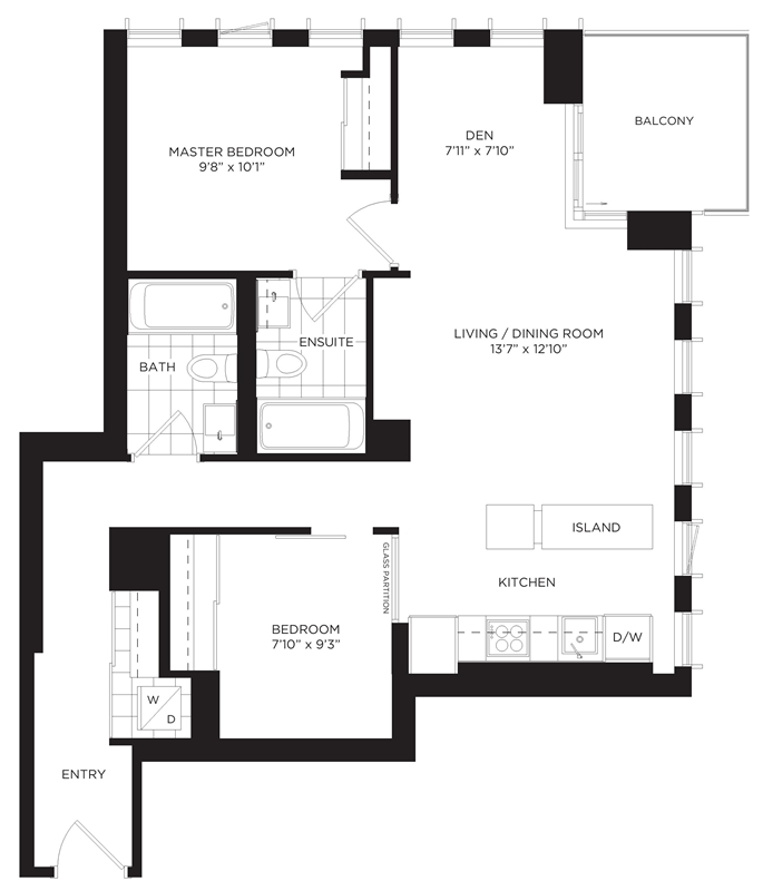 2309 170 sumach st 2 bedroom den at one park place