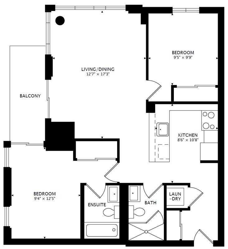 1803 - 25 Cole St - Floorplan - 800px