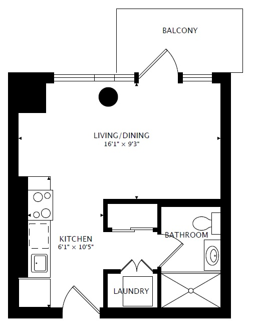 312 - 55 East Liberty St - Floorplan