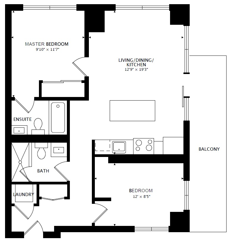 2209 225 Sackville St 2 Bedroom Suite At Paintbox