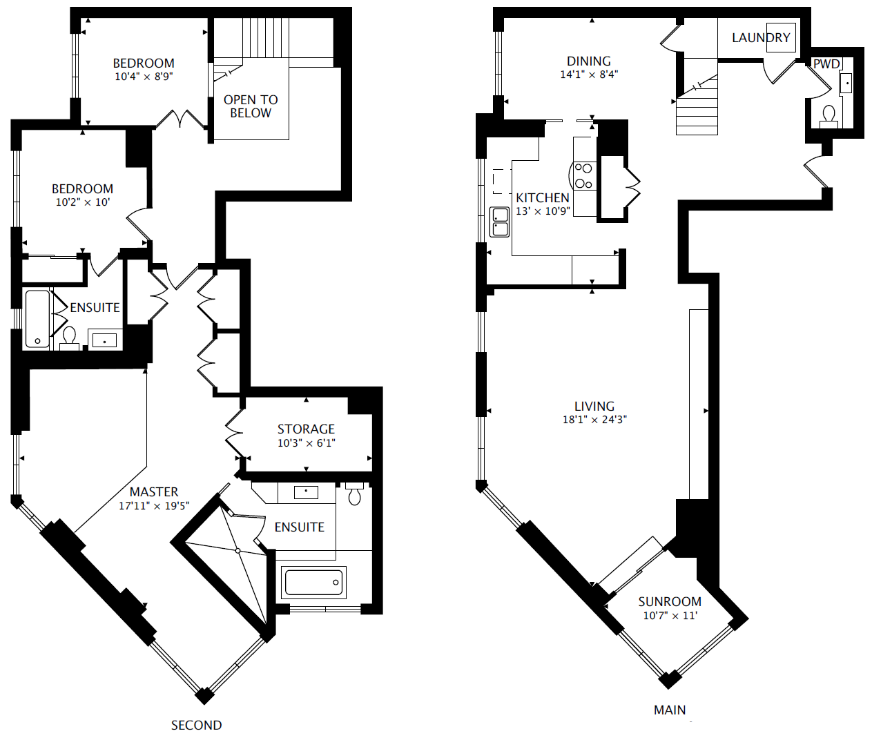 Polo Park Floor Plan Ph5 44 St Joseph St 3 Bedroom Penthouse Regent Park