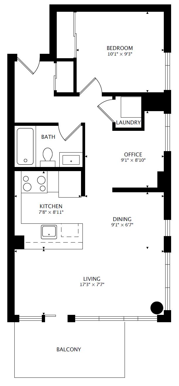 902 - 1 Cole St - Floorplan - 800px